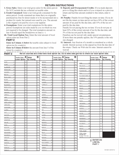 Form 32-022 Fillable sales tax permits and retailer's use tax Return