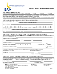 Form EFT Electronic Funds Transfer (EFT) Authorization Form
