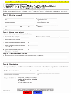 form rmft 143 illinois motor fuel tax refund claim for