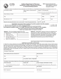 Form ST-108MH Fillable Certification of Sales of Manufactured ...