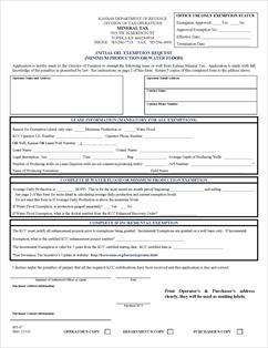 Form MT-07 Fillable Initial Oil Exemption Request