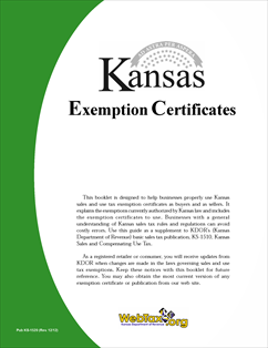 Form KS-1520 Fillable Sales Tax Exemption Information and Certificates