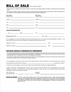 fillable vehicle bill of sale Form TR-12 Fillable Affidavit to a Fact/Bill of Sale
