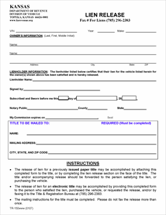 Nice lien release forms images resume ideas for Affidavit for repossessed motor vehicle texas form