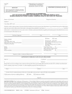 Form 51A154 Fillable Certificate of Exemption Out-of-State ...