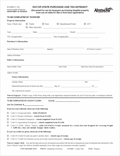 Form 51A280 Fillable Out-Of-State Purchase - Use Tax Affidavit