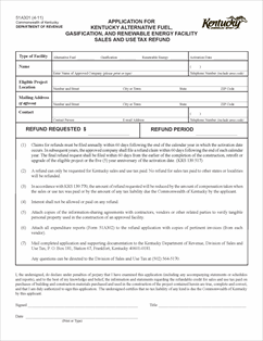 Form 51A301 Fillable Application for Kentucky Alternative Fuel ...