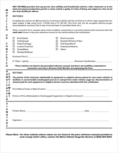 Form 71A101 Fillable Motor Vehicle Usage Tax Multi-Purpose Form