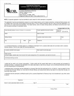 louisiana sales tax exemption form ...