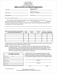 Form ST205 Fillable Sales and Use Tax Refund Application
