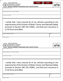 Form 4715 Fillable Motor Carriers