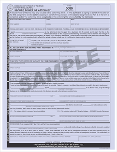 Form 5086 Fillable Secure Power Of Attorney The Missouri