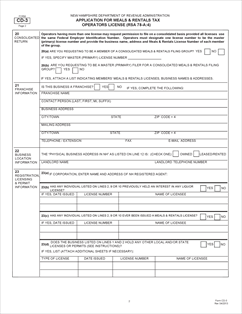 Form CD-3 Fillable Meals and Rentals License