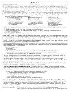 Form ST-8 Fillable Certificate of Exempt Capital Improvement