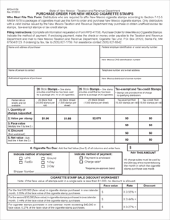 Form rpd 41158 fillable purchase order form new mexico cigarette