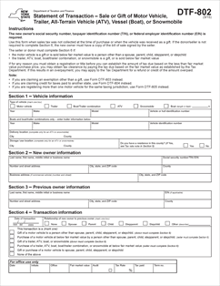 Form DTF-802 Fillable Statement of Transaction - Sale or Gift of ...