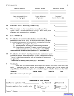 Form RP-467-Rnw Fillable Renewal Application for Partial Tax ...