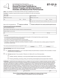Gsa Ny State Tax Exempt Form - Image Mag