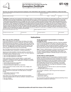 Form ST-129 Fillable New York State and Local Sales and Use Tax ...