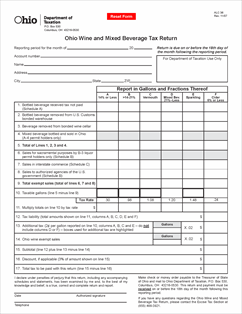 Form ALC 36 Fillable Ohio Wine and Mixed Beverage Tax Return ...