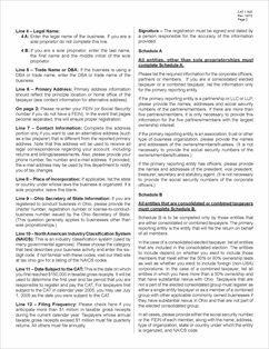 Form CAT 1 INS Fillable Ohio Commercial Activity Tax (CAT ...