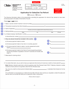 Form ST AR Fillable Application for Sales/Use Tax Refund