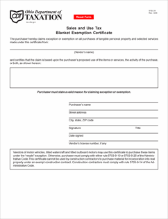 Form STEC B Fillable Sales and Use Tax Blanket Exemption Certificate