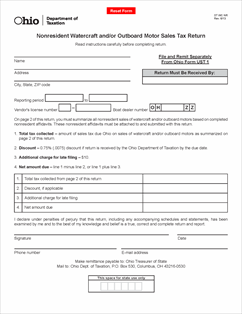 Form ST WC NR Fillable Nonresident Watercraft and/or Outboard ...