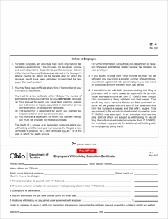 ohio sales tax exemption form