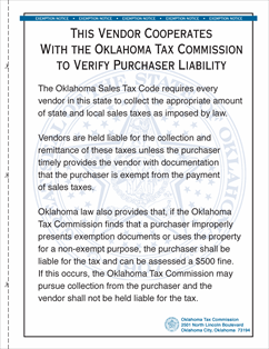 Form Publication D Fillable Oklahoma Sales Tax Vendor ...