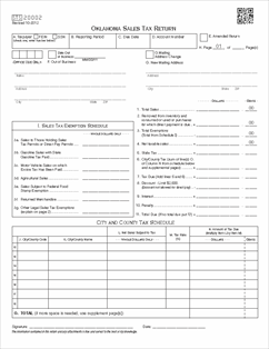 Form STS20002 Fillable Oklahoma Sales Tax Return (single and ...