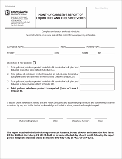 Form dmf 26 fillable monthly carrier 39 s report of liquid for Bureau 2a form