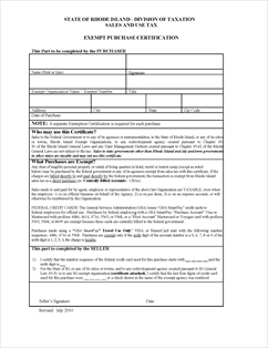 Form Exemption - GSA Fillable Exemption certification for US and ...