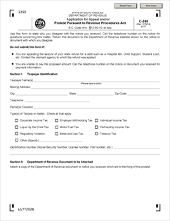 Form C-245 Fillable Application For Appeal