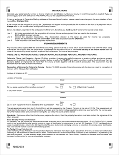 Form PT-100 Fillable Business Personal Property Return