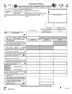 Form ST-388 Fillable State Sales, Use and Accommodations Tax Return