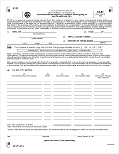 Form ST-3T Fillable Accommodations Report by County or ...