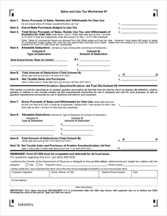 Form ST-403 Fillable State Sales, Use, and Aviation Gasoline Tax ...