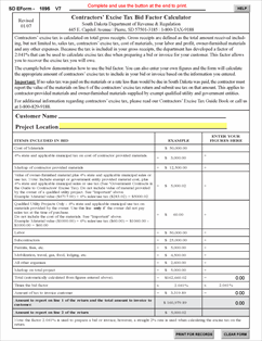 Form E1895 V7 Fillable Bid Factor Instructions and Calculator
