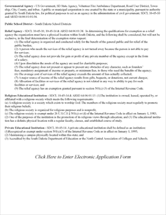 Form RV-093 Fillable Sales Tax Exempt Status Application