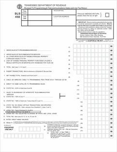 Form SLS458 Fillable Sales & Use Tax Return for Cable TV and ...