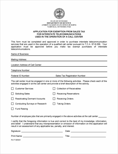 Form F1305401 Fillable Application for Exemption from Sales Tax ...