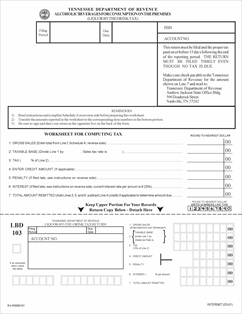 Form LBD103 Fillable Report of Gross Sales, Alcoholic Beverages ...