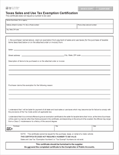 Form 01-339 Fillable Texas Sales and Use Tax Resale Certificate ...