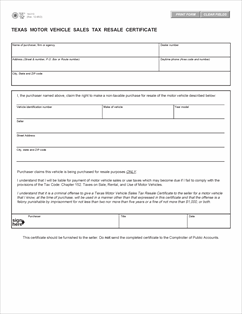 form 14 313 fillable texas motor vehicle sales tax resale