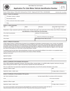 Form Tc 162 Fillable Application For Utah Motor Vehicle