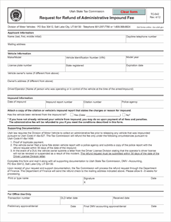 Form tc 542 fillable request for refund of administrative for Oklahoma tax commission motor vehicle division phone number