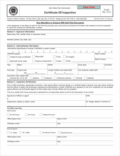 Form TC-661 Fillable Certificate Of Inspection