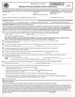 Form TC-890 Fillable Release of Protected Motor Vehicle Information