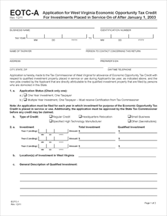 tax credits application form download
